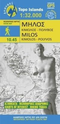 MILOS MELOS mapa turystyczna 1:32 000 ANAVASI