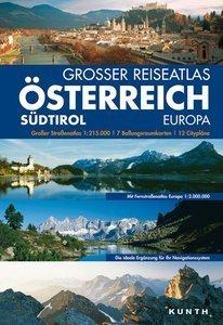 AUSTRIA atlas samochodowy 1:215 000 KUNTH