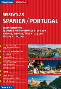 HISZPANIA/PORTUGALIA atlas samochodowy KUNTH