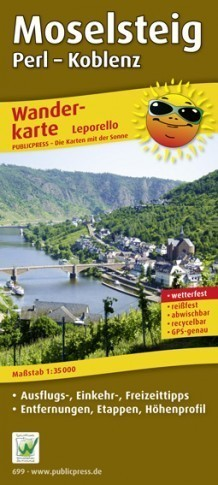 MOSELSTEIG PERL- KOBLENZ mapa rowerowa laminowana PUBLICPRESS