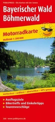 NIEMCY- LAS BAWARSKI  mapa motocyklowa laminowana PUBLICPRESS
