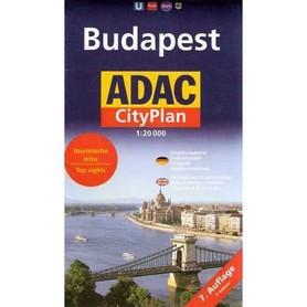 BUDAPESZT plan miasta 1:20 000 ADAC