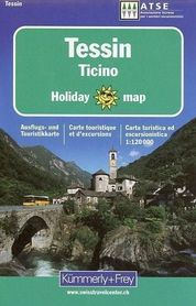 TESSIN mapa turystyczna 1:120 000 HOLIDAY KUMMERLY & FREY