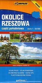 OKOLICE RZESZOWA cz. południowa mapa turystyczna laminowana 1:50 000 COMPASS