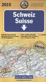SZWAJCARIA papierowa mapa samochodowa 1:275 000