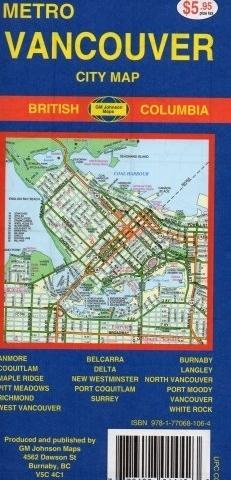 VANCOUVER plan miasta GM JOHNSON USA