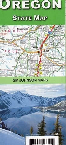 OREGON mapa samochodowa GM JOHNSON USA