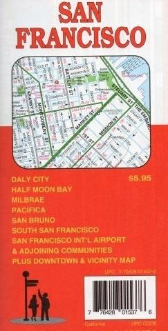 SAN FRANCISCO plan miasta GM JOHNSON USA