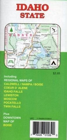 IDAHO mapa samochodowa GM JOHNSON USA