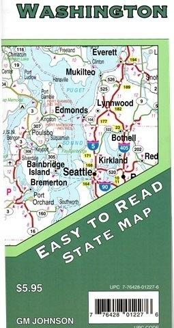 WASZYNGTON mapa samochodowa GM JOHNSON USA