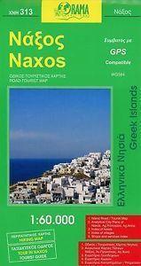 NAXOS NAKSOS mapa turystyczno - samochodowa 1:60 000 ORAMA