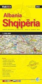 ALBANIA mapa samochodowa 1:350 000 VEKTOR