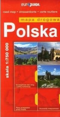 POLSKA mapa samochodowa 1:750 000 EUROPILOT