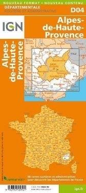 D04 ALPES DE HAUTE PROVENCE ALPY GÓRNEJ PROWANSJI mapa samochodowa 1:150 000 IGN