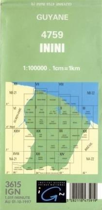 ININI GUJANA FRANCUSKA mapa topograficzna 1:100 000 IGN