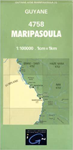 MARIPASOULA GUJANA FRANCUSKA 4758 mapa topograficzna 1:100 000 IGN
