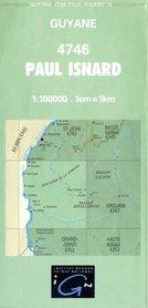 PAUL ISNARD GUJANA FRANCUSKA 4746 mapa topograficzna 1:100 000 IGN