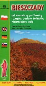 BIESZCZADY od Komańczy po Tarnicę i Zagórz Jezioro Solińskie mapa 1:50 000 CARTOMEDIA