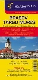BRASOV TARGU MURES plan miasta 1:15 000 CARTOGRAPHIA