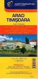 ARAD TIMISOARA plan miasta 1:18 000 CARTOGRAPHIA