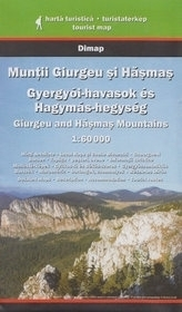 Góry GIURGEU I HASMAS mapa turystyczna 1:60 000 DIMAP SZARVAS