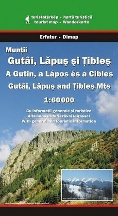 Góry GUTAI, LAPUS, TIBLES mapa turystyczna 1:60 000 DIMAP SZARVAS
