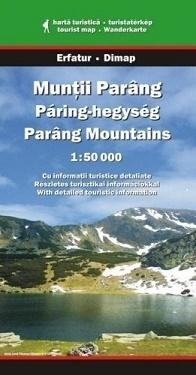 Góry MUNTII - PARANG mapa turystyczna 1:50 000 DIMAP SZARVAS