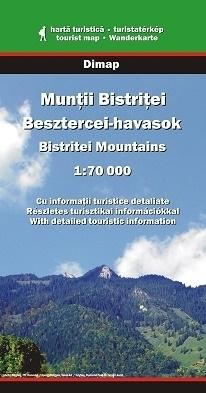 Góry BISTRITEI mapa turystyczna 1:70 000 DIMAP SZARVAS