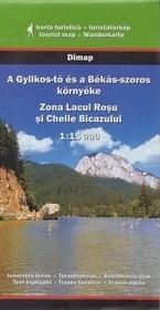 Jezioro RED LAKE mapa turystyczna 1:15 000 DIMAP SZARVAS