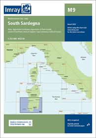 M9 Sardynia Południowa mapa morska 1:255 000 IMRAY 2020