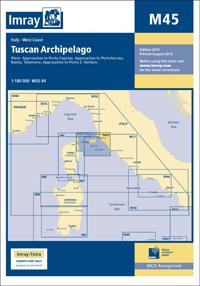 M45 Wyspy Toskańskie mapa morska 1:180 000 IMRAY