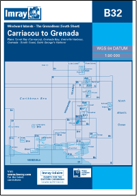 B32 Carriacou - Grenada mapa morska 1:90 000 IMRAY