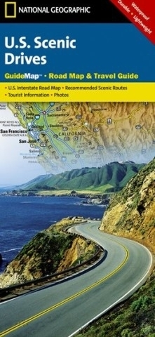 U.S. SCENIC DRIVES mapa samochodowa National Geographic
