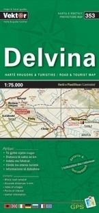 DELVINA laminowana mapa samochodowo turustyczna VEKTOR ALBANIA