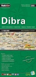 DIBRA laminowana mapa samochodowo turustyczna VEKTOR ALBANIA