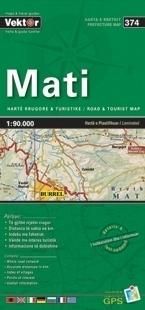 MATI laminowana mapa samochodowo turustyczna VEKTOR ALBANIA
