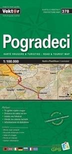 POGRADECI laminowana mapa samochodowo turustyczna VEKTOR ALBANIA