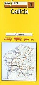 GALICIA mapa samochodowa 1:250 000 GEOESTEL