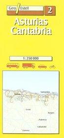 ASTURIA mapa samochodowa 1:250 000 GEOESTEL
