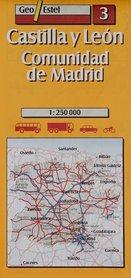 KASTYLIA I LEON mapa samochodowa 1:250 000 GEOESTEL