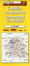 LA MANCHA mapa samochodowa 1:250 000 GEOESTEL