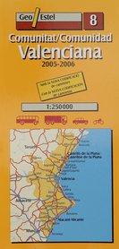 WALENCJA mapa samochodowa 1:250 000 GEOESTEL