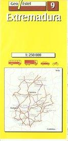 ESTREMADURA mapa samochodowa 1:250 000 GEOESTEL