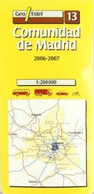 MADRYT mapa samochodowa 1:200 000 GEOESTEL