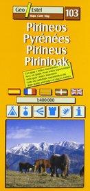 PIRINEOS mapa 1:400 000 GEOESTEL