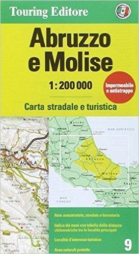 ABRUZJA I MOLISE mapa samochodowa 1:200 000 TOURING EDITORE