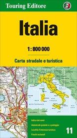 WŁOCHY mapa samochodowa 1:800 000 TOURING EDITORE