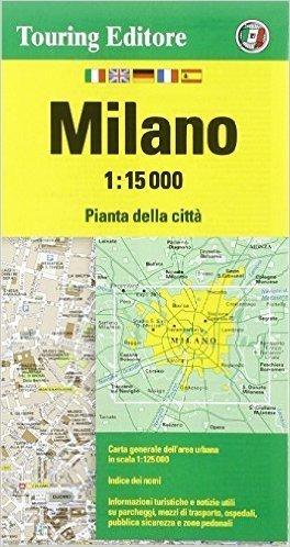MEDIOLAN plan miasta 1:15 000 TOURING EDITORE