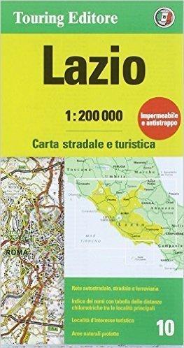 LAZIO LACJUM mapa samochodowa 1:200 000 TOURING EDITORE