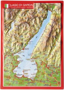 JEZIORO GARDA pocztówka reliefowa GEORELIEF